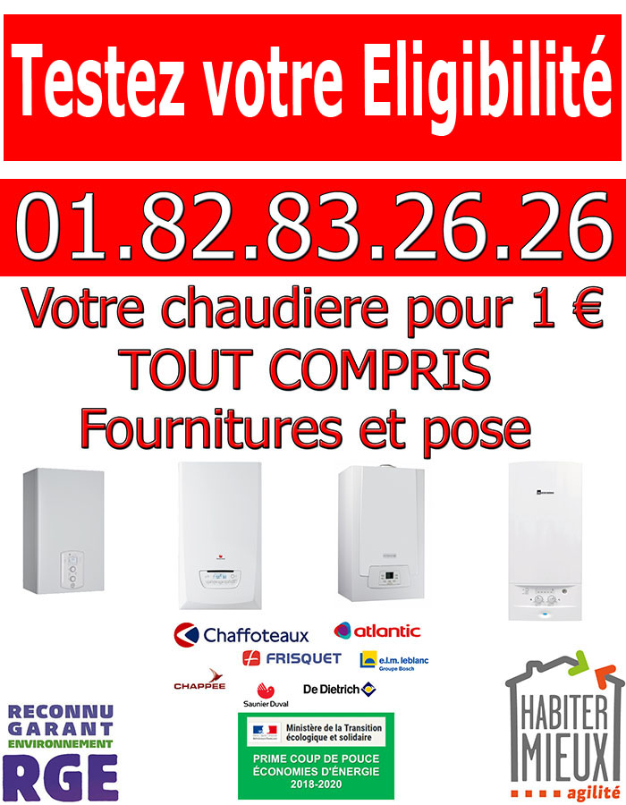 Prime Chaudiere Puiseux en France 95380